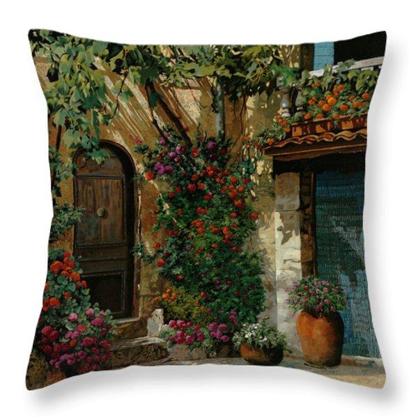 il giardino francese Throw Pillow by Guido Borelli