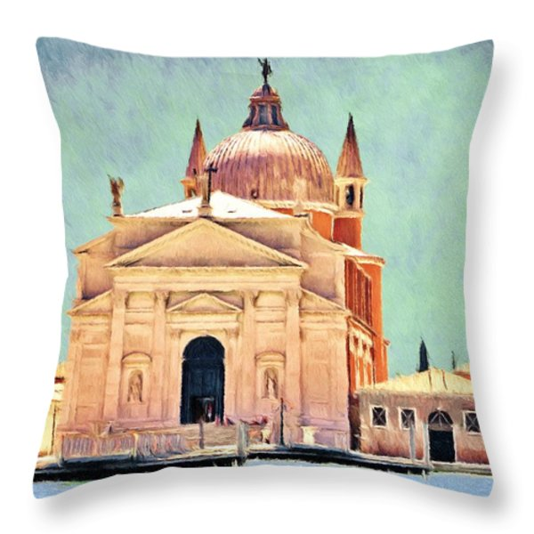 Il Redentore Throw Pillow by Jeff Kolker