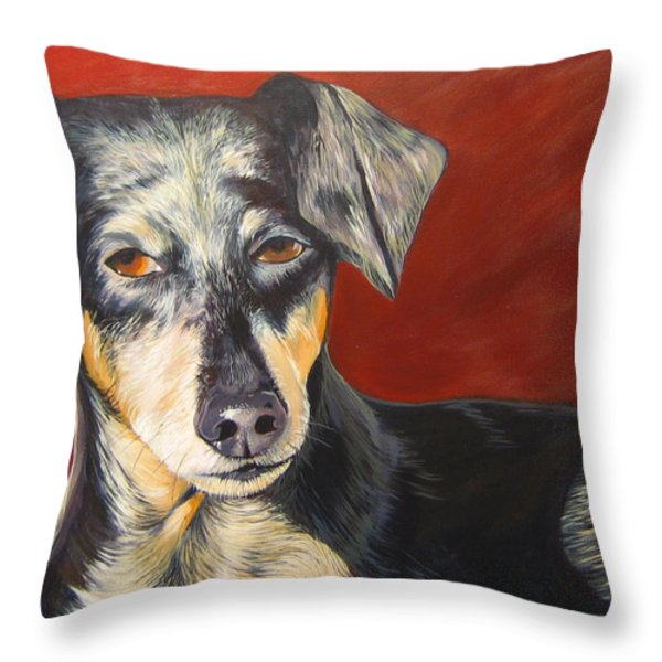 I'll Be With You Momentarily Throw Pillow by Hunter Jay