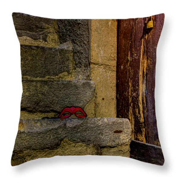 Illicit Liaison Throw Pillow by Jasna Buncic