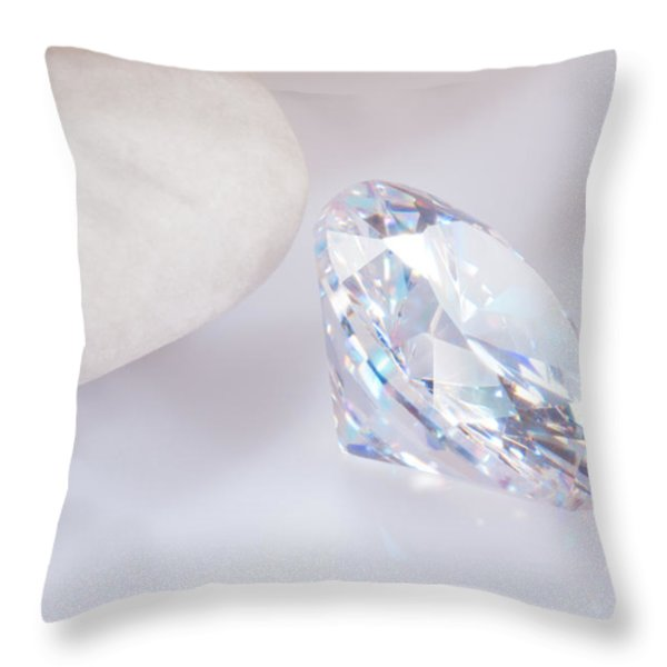 illuminate diamond Throw Pillow by ATIKETTA SANGASAENG