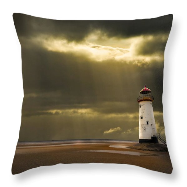 Illuminated Beacon Throw Pillow by Meirion Matthias