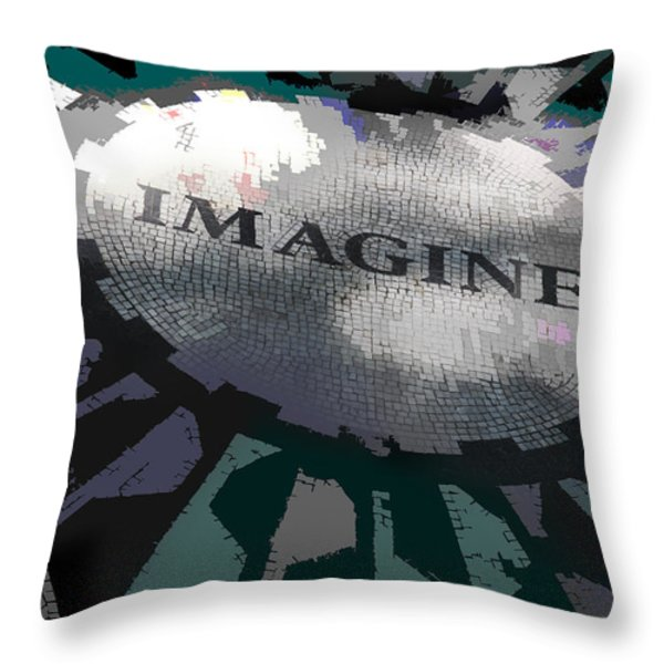 Imagine Throw Pillow by Kelley King