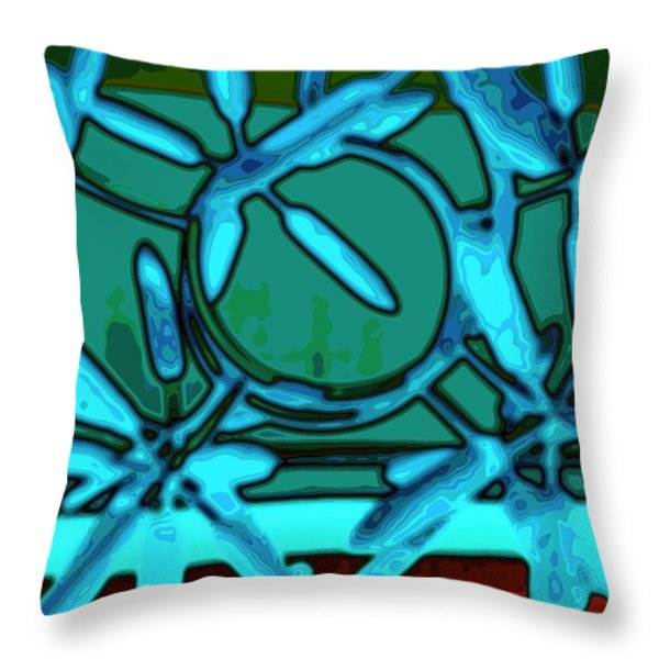 In A Spin Throw Pillow by Barbara Drake