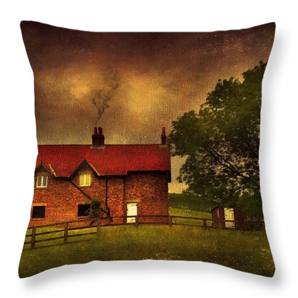 In A Village Throw Pillow by Svetlana Sewell