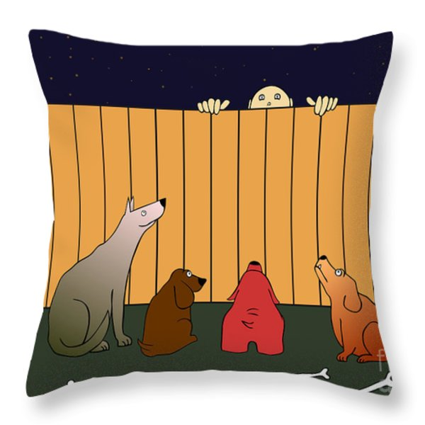 in bad time on the bad place Throw Pillow by Michal Boubin