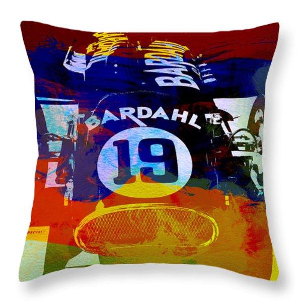 In Between The Races Throw Pillow by Naxart Studio