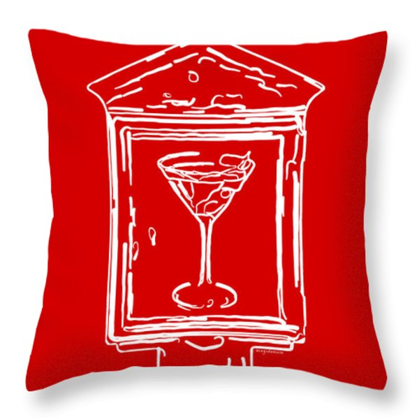 In Case Of Emergency - Drink Martini - Red Throw Pillow by Wingsdomain Art and Photography