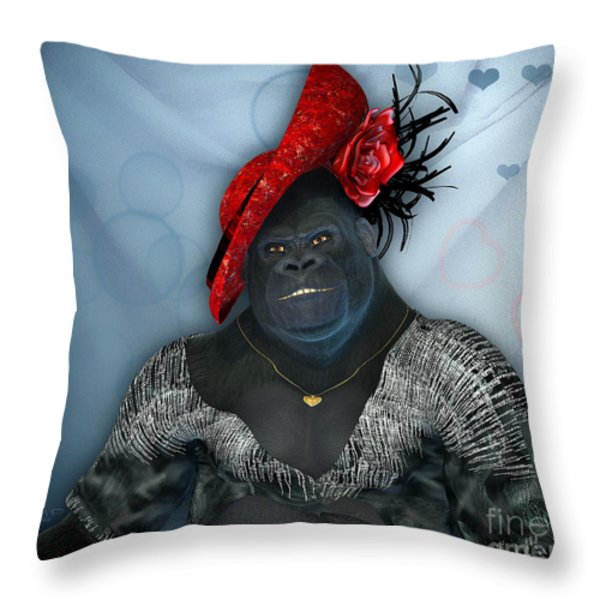 In Disguise Throw Pillow by Jutta Maria Pusl