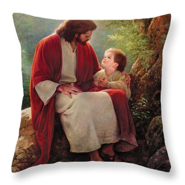 In His Light Throw Pillow by Greg Olsen