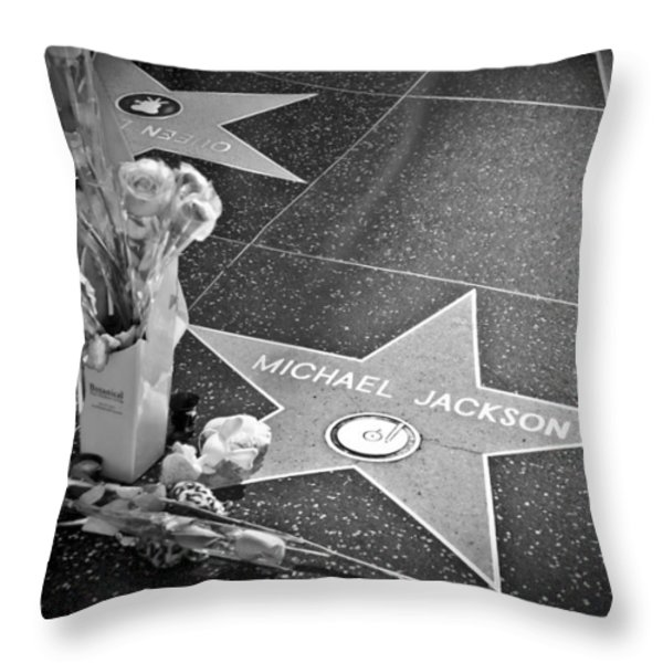in memoriam Michael Jackson Throw Pillow by Ralf Kaiser