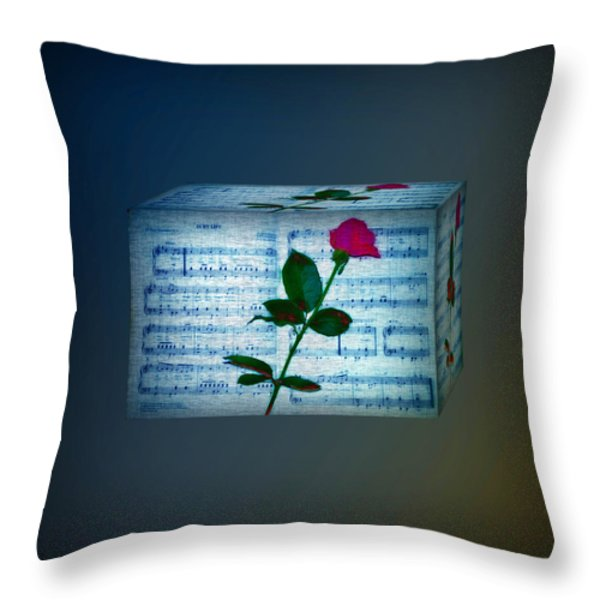 In My Life Cubed Throw Pillow by Bill Cannon