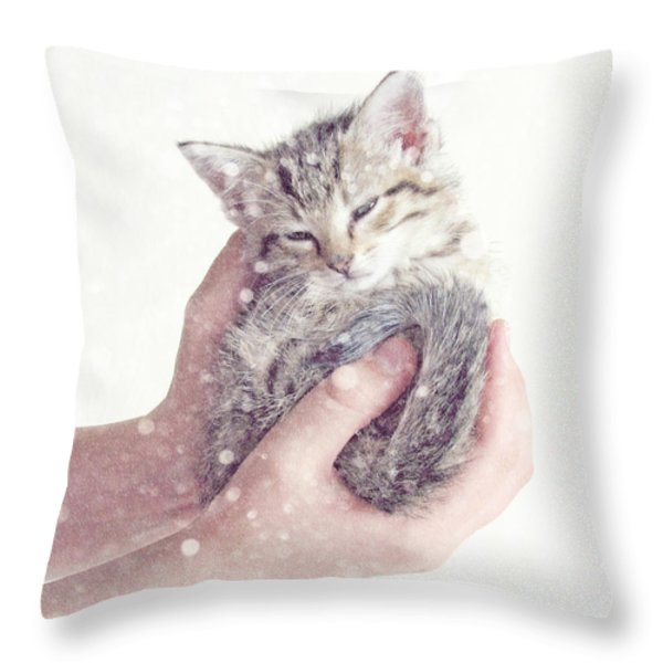 In Safe Hands  Throw Pillow by Amy Tyler