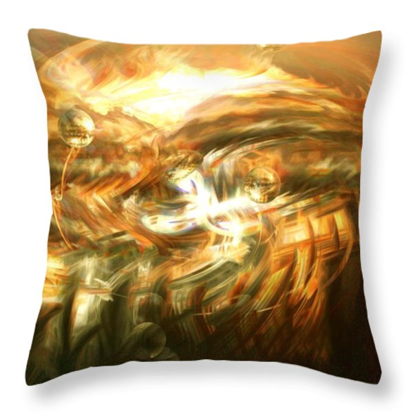 In The End Throw Pillow by Linda Sannuti