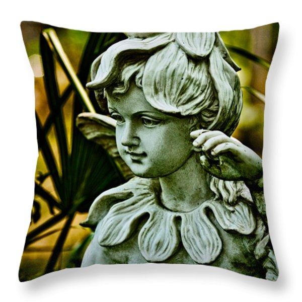 In The Garden Throw Pillow by Christopher Holmes