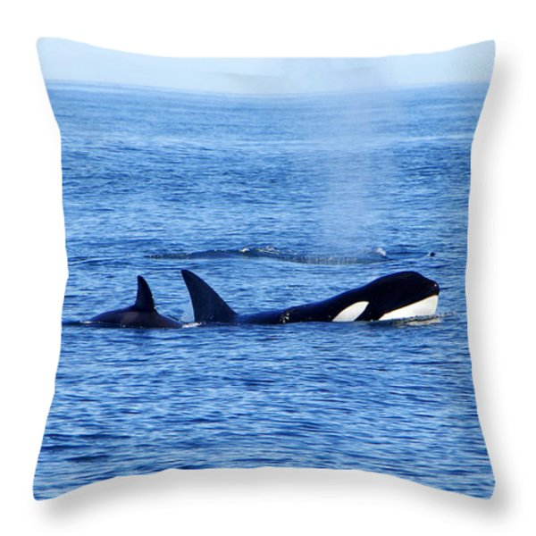 In the Great Wide Ocean Throw Pillow by Marilyn Wilson