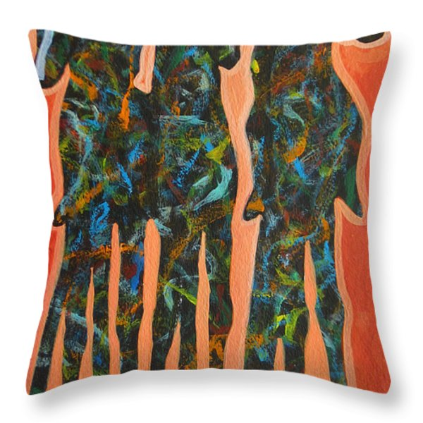 In The Orange Throw Pillow by Lance Headlee