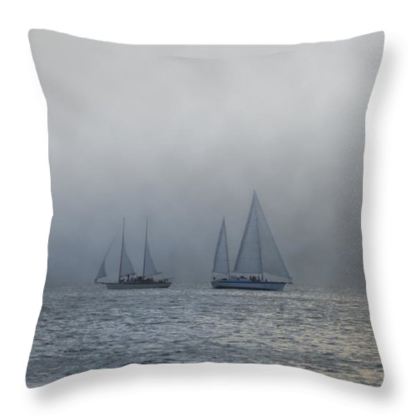 Incoming Fog Bank Throw Pillow by Bill Cannon