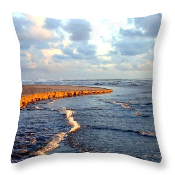 Incoming Tide At Sundown Throw Pillow by Will Borden