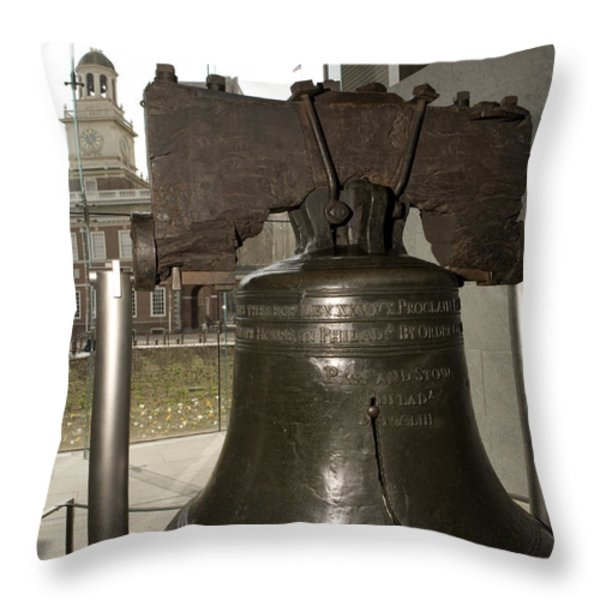 Independence Hall Overlooking Throw Pillow by Tim Laman