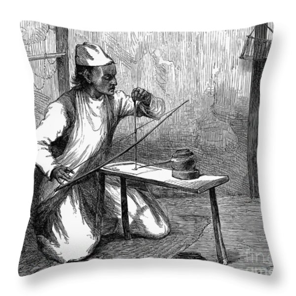 India: Pearl Borer, 1876 Throw Pillow by Granger