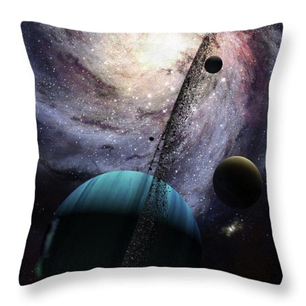 Indra, A Fast Spinning Gas Giant Throw Pillow by Brian Christensen
