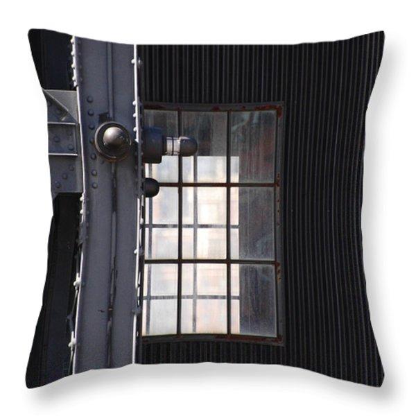 Industrial Urban Window Throw Pillow by adSpice Studios