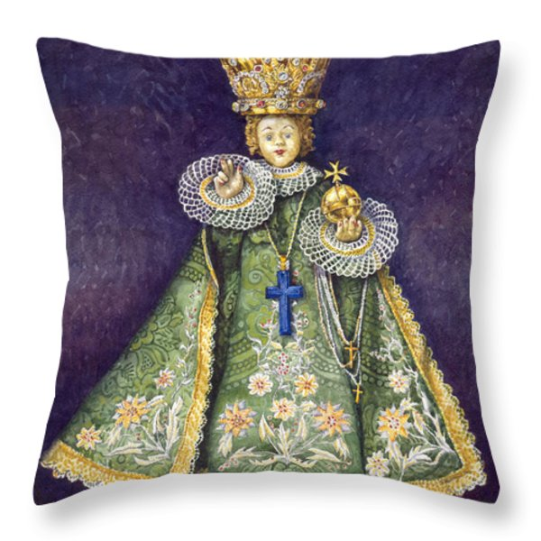 Infant Jesus of Prague Throw Pillow by Yuriy  Shevchuk