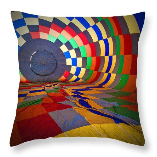 Inflating Throw Pillow by Rick Berk