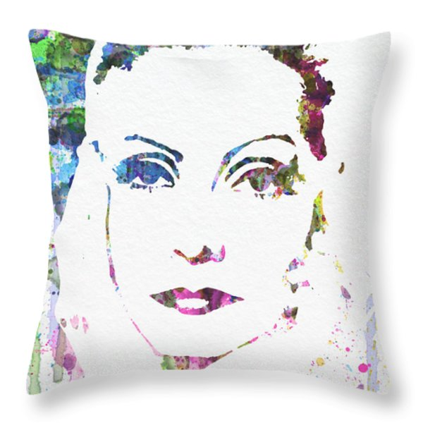 Ingrid Bergman  Throw Pillow by Naxart Studio