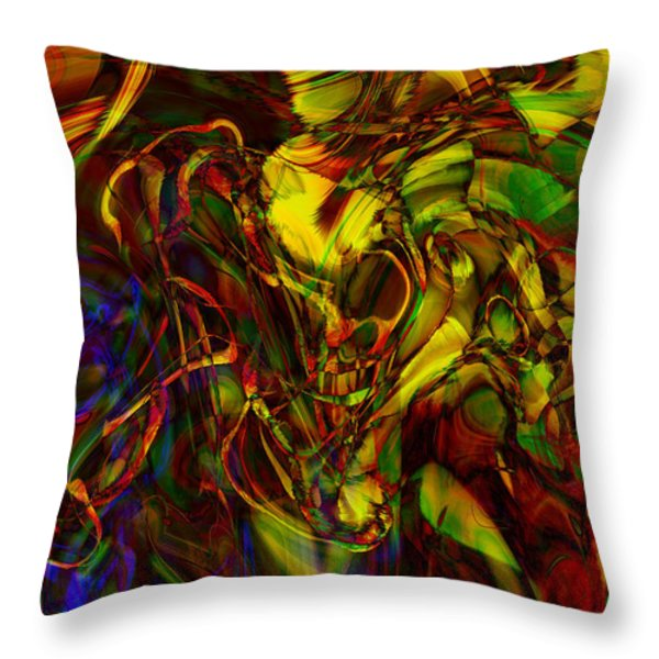 Injections Throw Pillow by Linda Sannuti
