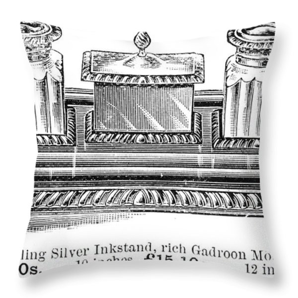Inkstand, 19th Century Throw Pillow by Granger