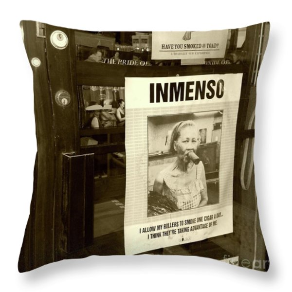 Inmenso Cohiba Throw Pillow by Debbi Granruth