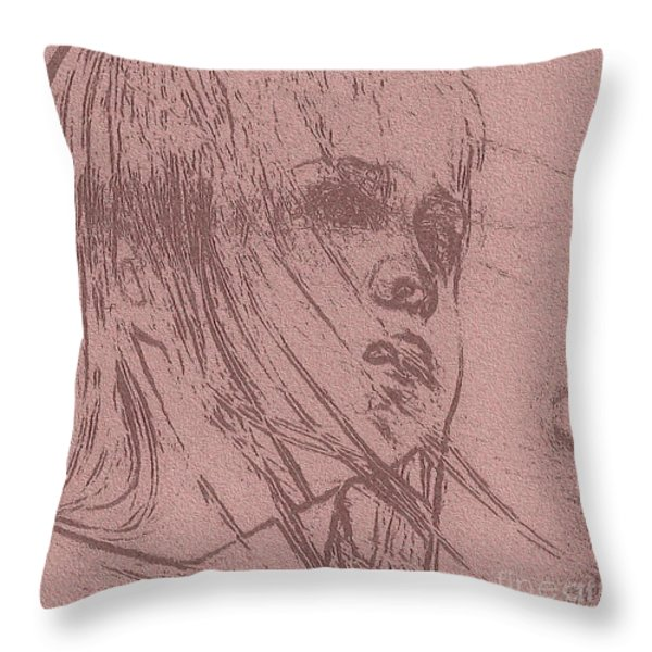 Innocence Throw Pillow by Maria Urso