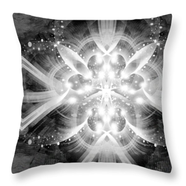 Intelligent Design BW 2 Throw Pillow by Angelina Vick