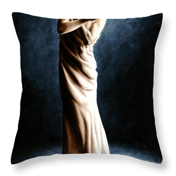 Intense Ballerina Throw Pillow by Richard Young