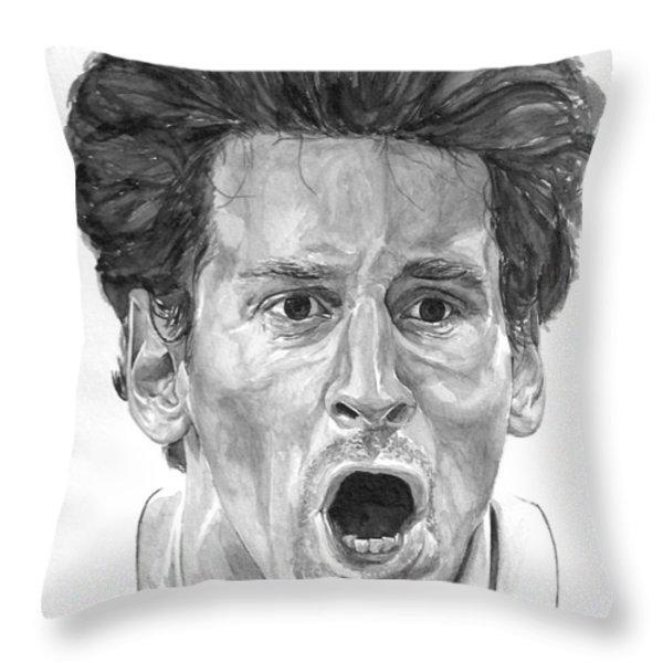 Intensity Lionel Messi Throw Pillow by Tamir Barkan