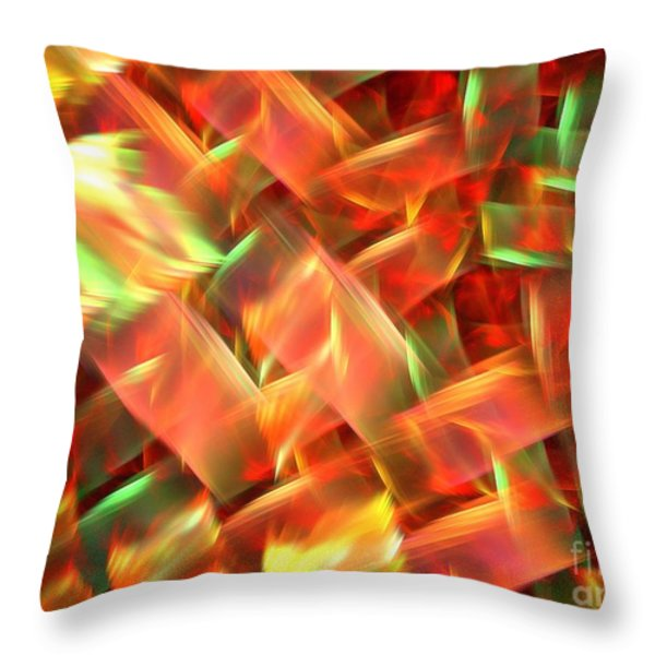Interlocking Throw Pillow by Kim Sy Ok