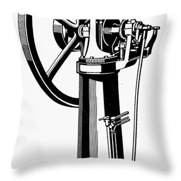 Internal Combustion Engine Throw Pillow by Granger