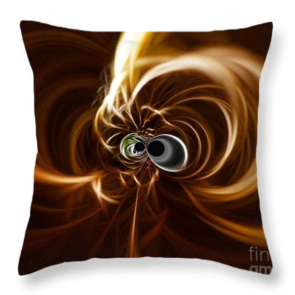 Into The Abyss Throw Pillow by Cheryl Young
