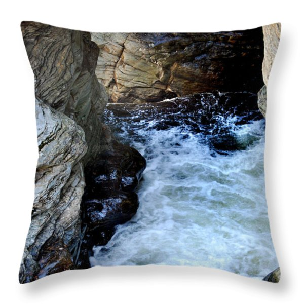 Into The Abyss Throw Pillow by Skip Willits
