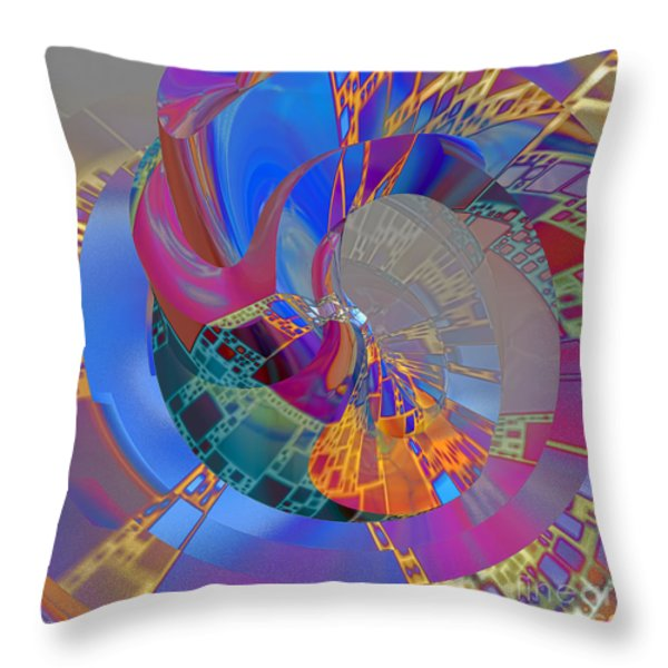 Into The Inner World Throw Pillow by Deborah Benoit