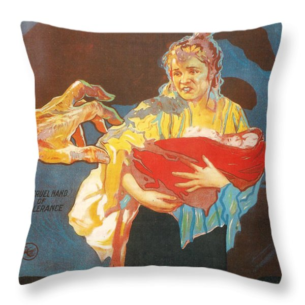 Intolerance Throw Pillow by Nomad Art And  Design