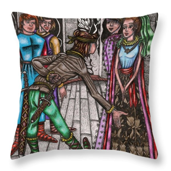Introductions Throw Pillow by Al Goldfarb