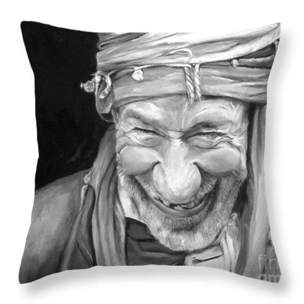 Iranian Man Throw Pillow by Enzie Shahmiri