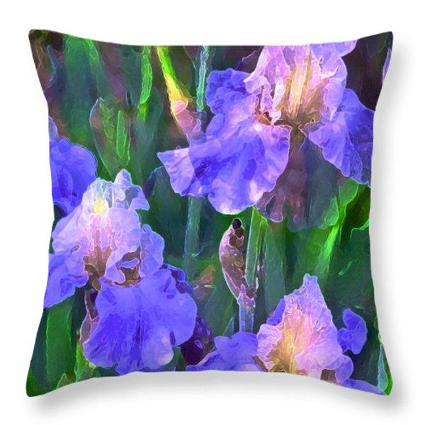 Iris 51 Throw Pillow by Pamela Cooper