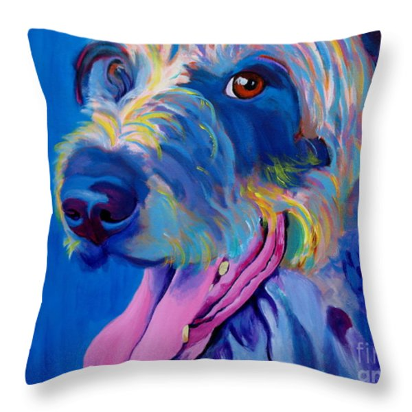 Irish Terrier - Lizzy Throw Pillow by Alicia VanNoy Call