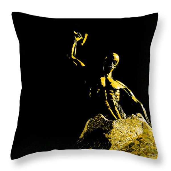 Iron Man Throw Pillow by Al Bourassa