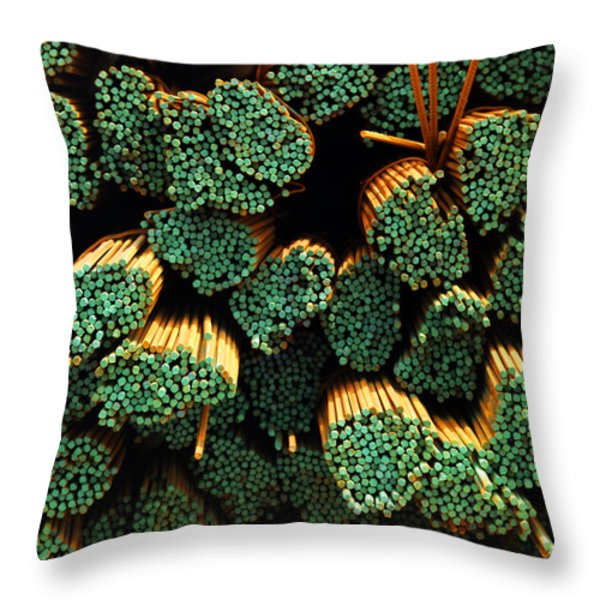 Iron Reinforcing Bars For High Rise Throw Pillow by Justin Guariglia