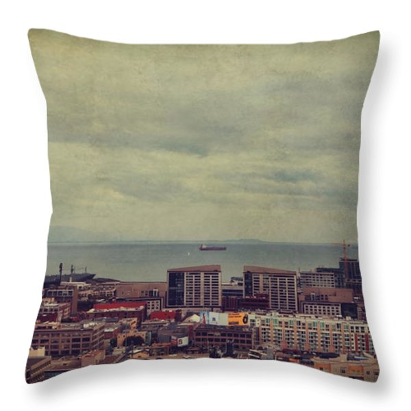 Is Anybody Out There Throw Pillow by Laurie Search